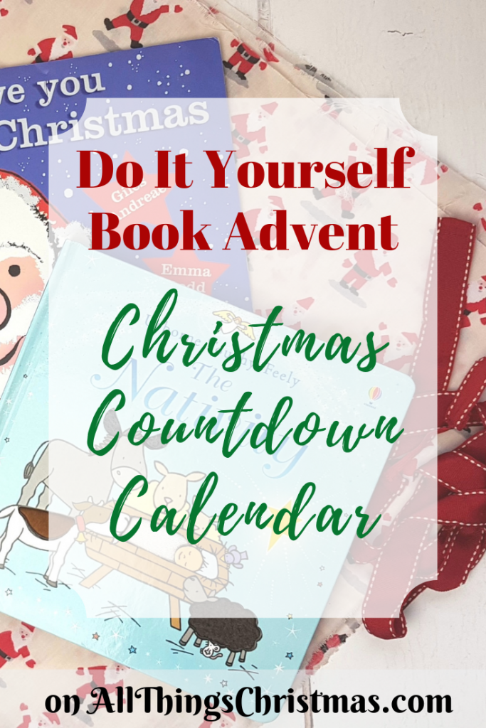 Do It Yourself Book Advent Christmas Countdown Calendar