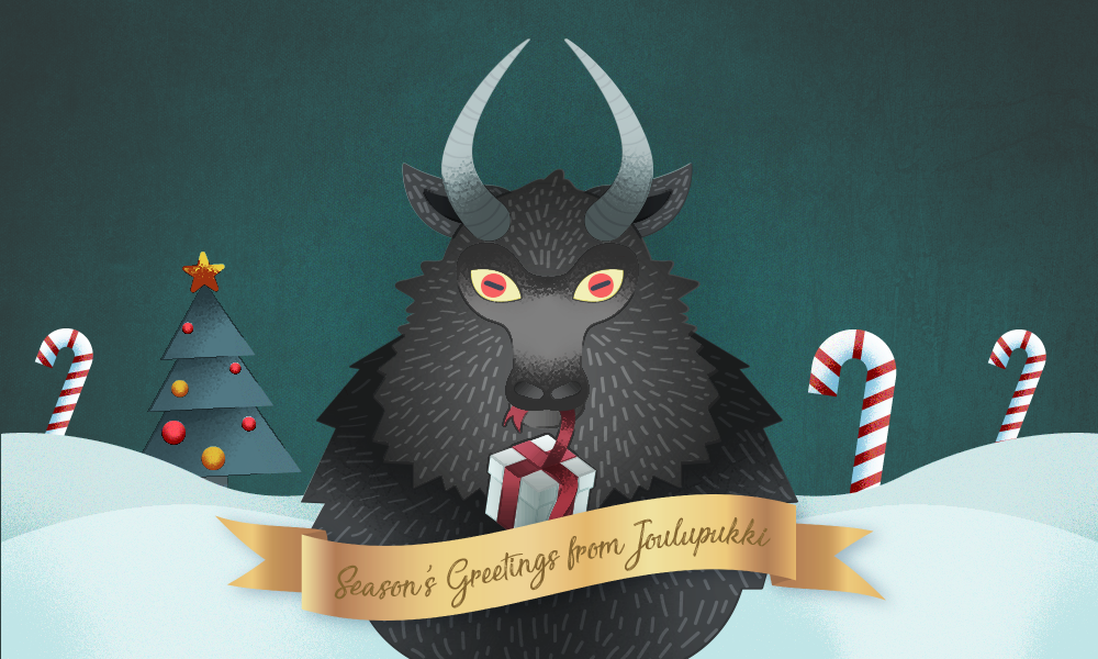 Finland Christmas Goat.Spookiest Santas From Around The World All Things Christmas