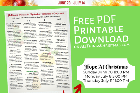 Hallmark Christmas in July *Every Movie* with it's Showtimes