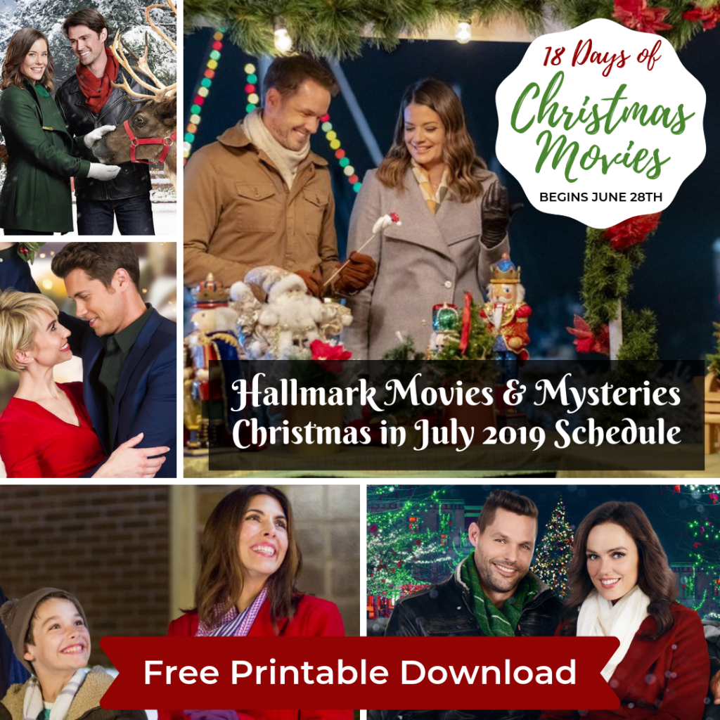 Hallmark Christmas In July Logo.Hallmark M M Christmas In July 2019 Full Schedule Updated